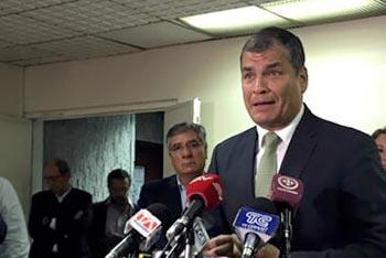 Correa visito a jorge glas en juicio