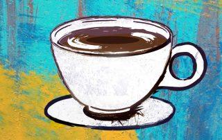 La intensa felicidad de un buen espresso. Ilustración de Daniela Mora Hernández.