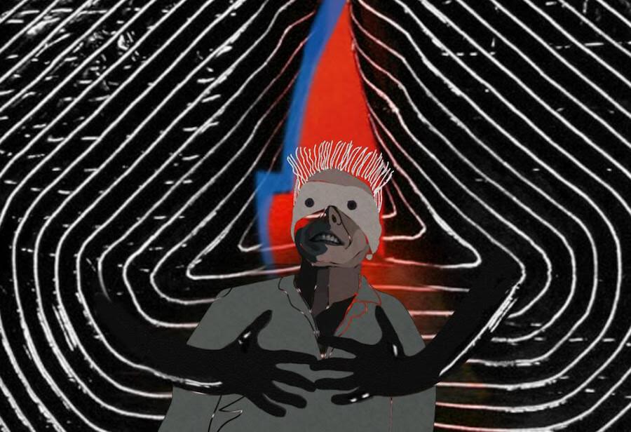 Bowie lanza un disco antes de morir. Ilustración de Daniela Mora Hernández.