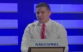 Iván Espinel candidato a la presidencia