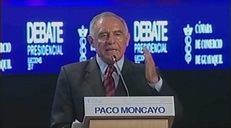 Paco Moncayo candidato por la Izquierda Democrática en Debate Presidencial 2017