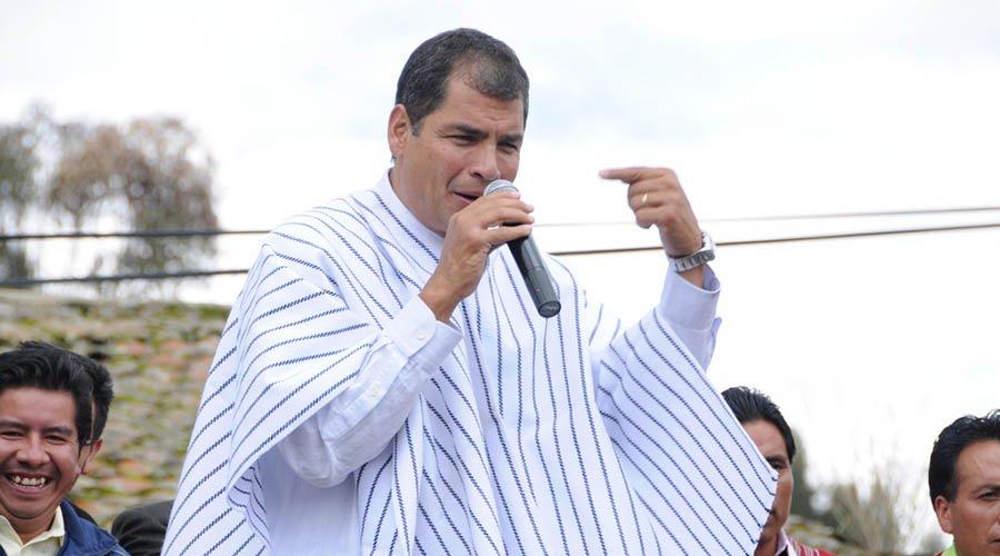 Correa da argumento para no votar por Lenín Moreno