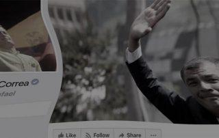 Facebook y Twitter borran post de Rafael Correa