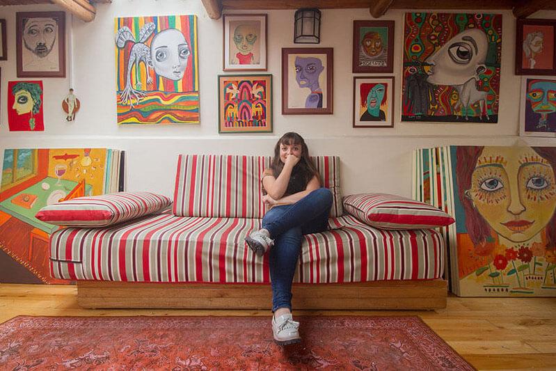 Estudios de artistas ecuatorianos: Begona Sala Urrutia en su estudio