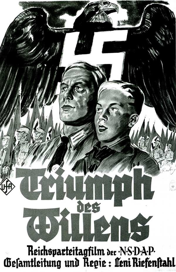Afiche original del Triunfo de la voluntad, el documental fundamental nazi