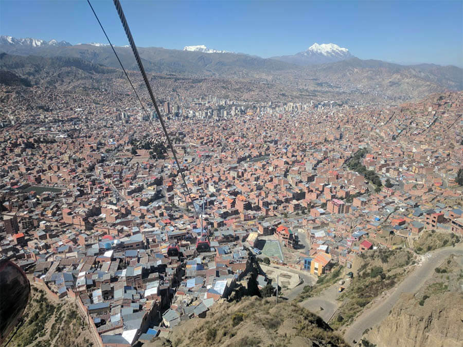 teleférico en La Paz