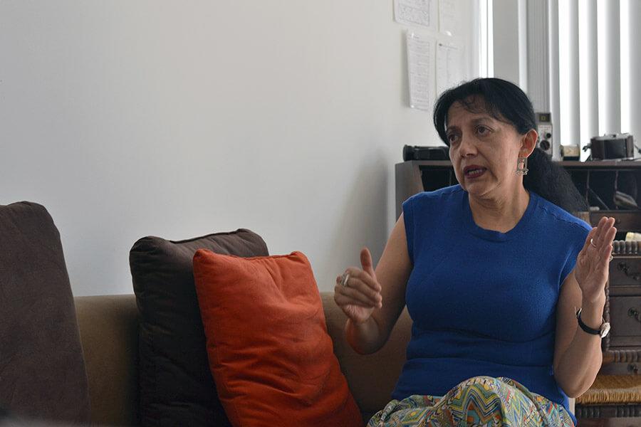 """""""Sí se puede evitar un suicidio"""", Patricia Aguirre. Fotografìa de Eliot Allaire para GK."""