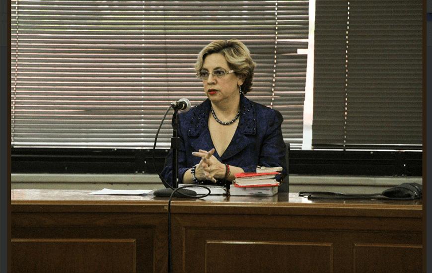 La Jueza Daniella Camacho decidió la vinculación de Rafael Correa en el caso Balda. Imagen de la Fiscalía General del Estado.