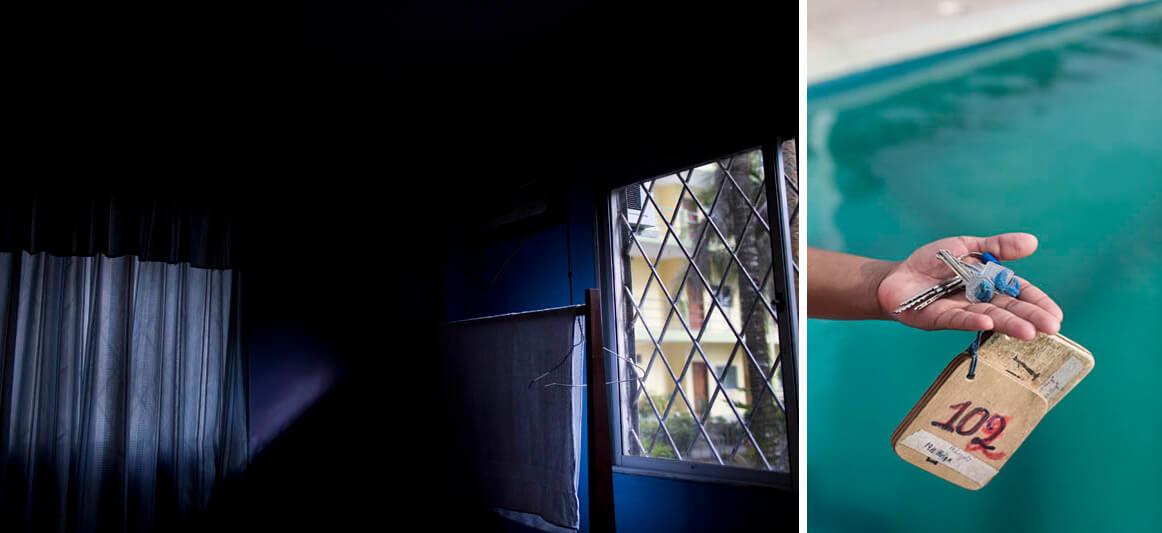 Habitación y llaves que usaron los periodistas en su última cobertura en San Lorenzo.
