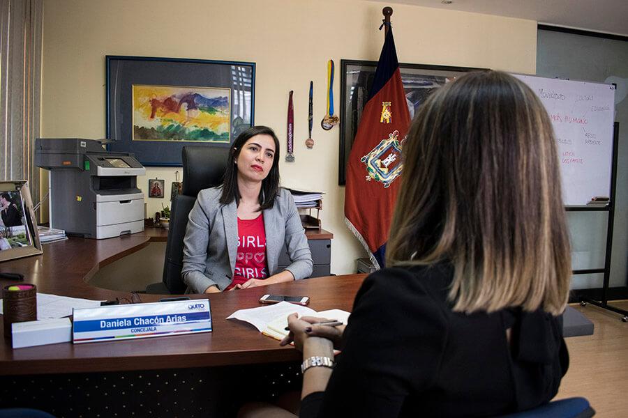 """""""El Municipio no es pobre, gasta de manera ineficiente"""", Daniela Chacón. Fotografía de Lisette Arévalo para GK."""