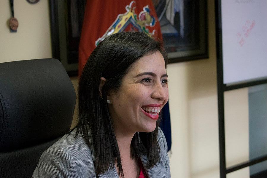 Daniela Chacón fue electa en 2014 concejala de Quito por SUMA. Fotografía de Lisette Arévalo.