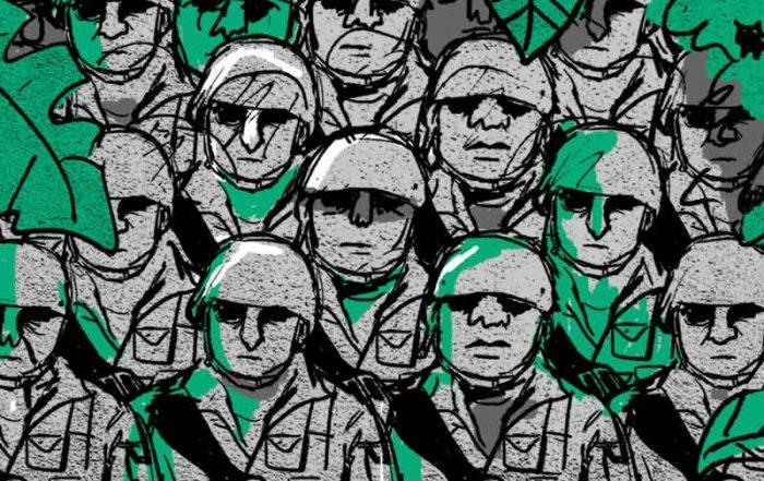 Militares en la frontera Ecuador-Colombia