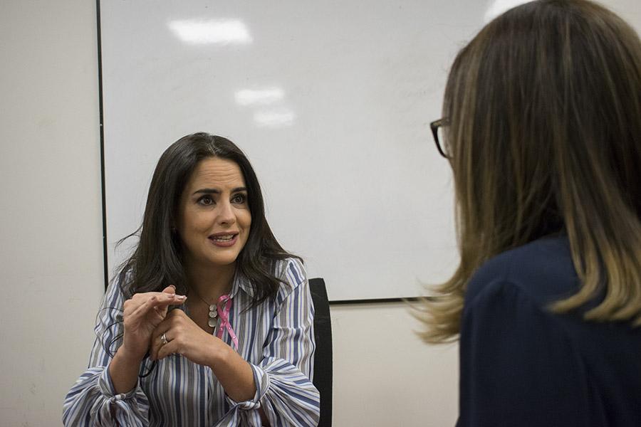 Vintimilla analiza la posibilidad de ser candidata a la Prefectura de Pichincha. Fotografía de José María León para GK.