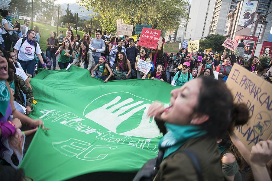 Las activistas pro aborto marcharon el 24 de noviembre