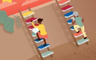 Las mujeres vuelven a estudiar la primaria en una escuela de Quito