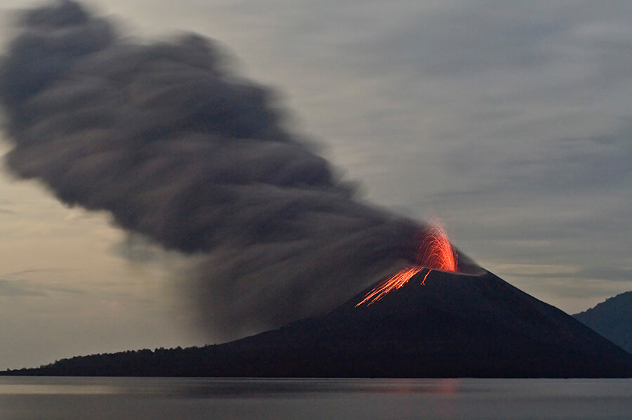 volcán Krakatau