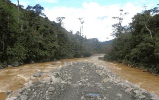 sedimentación río Upano