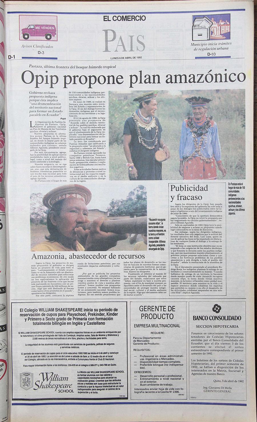 marcha opip 1992