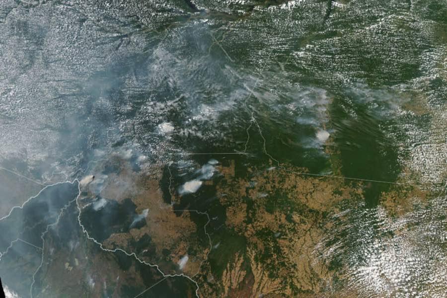 incendio en la Amazonía de Brasil