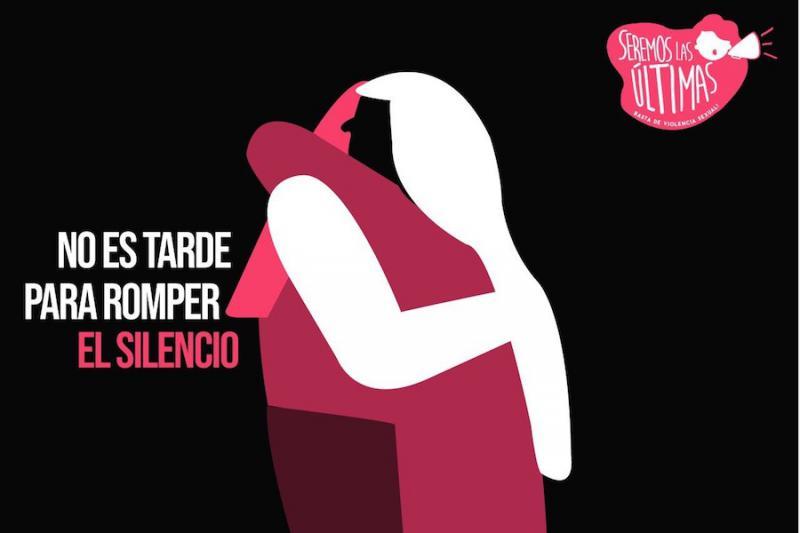 Ilustración de la campaña #Seremoslasultimas contra el abuso sexual.