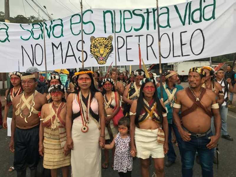 Comunidades waorani-explotacion petrolera-Pastaza