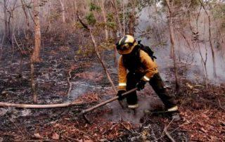 parroquias afectas por el incendio de Quilanga