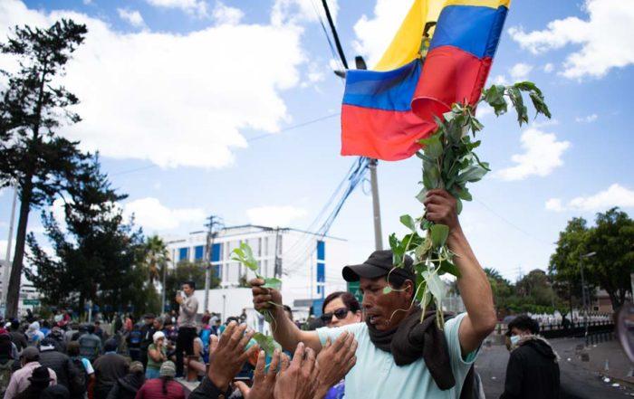 fotos de las manifestaciones en Ecuador