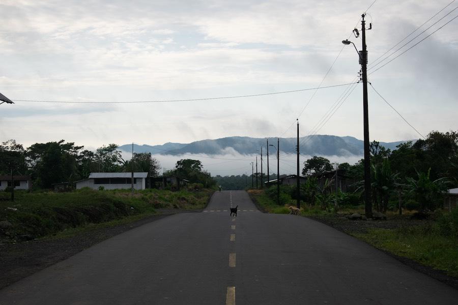 carretera en Macas