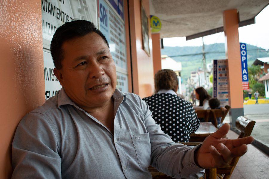 Andrés Wisum, excombatiente del Cenepa