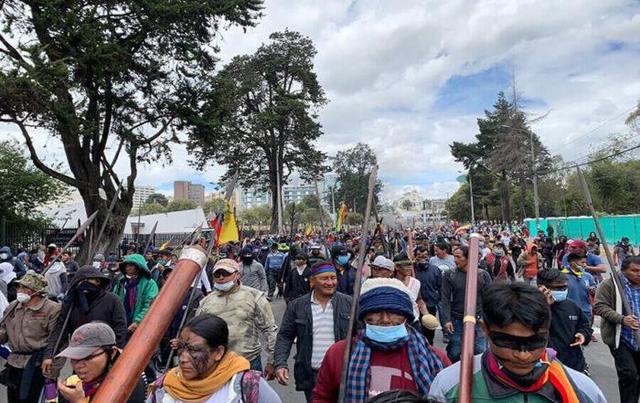 indígenas amazónicos se unen al paro en Ecuador