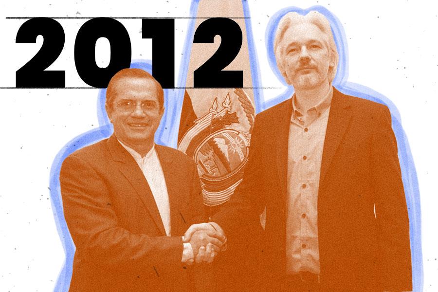 Uno de los hitos políticos fue el asilo a Julian Assange.