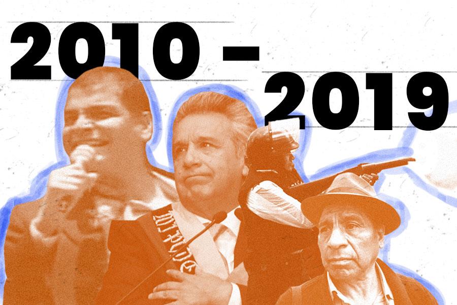 Hechos políticos que marcaron la década en Ecuador