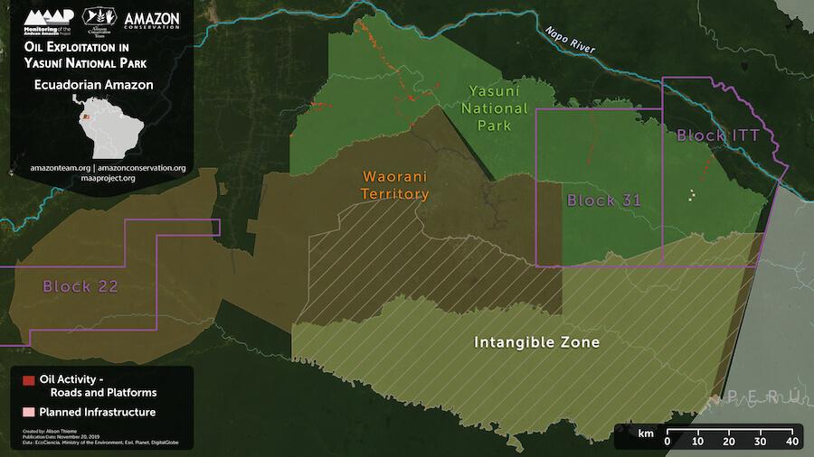 deforestación en el Yasuní