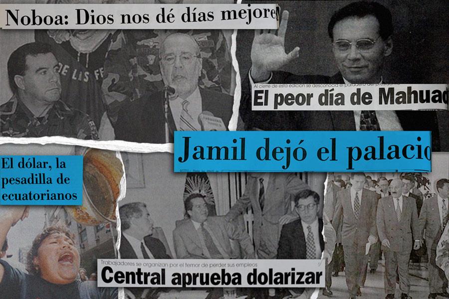cronología del derrocamiento de Jamil Mahuad