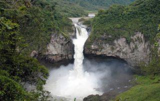 cascada de San Rafael en Ecuador
