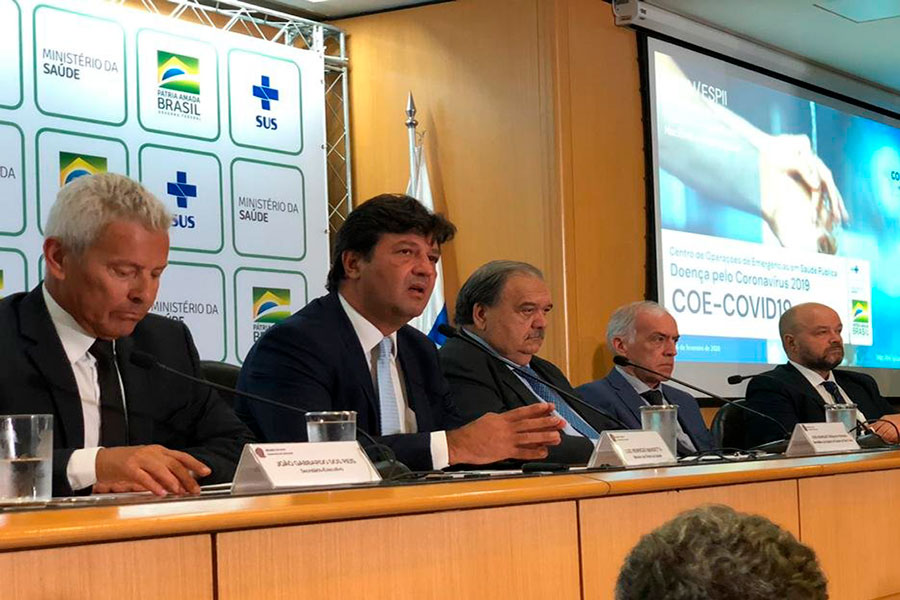 Primer caso de coronavirus en Brasil