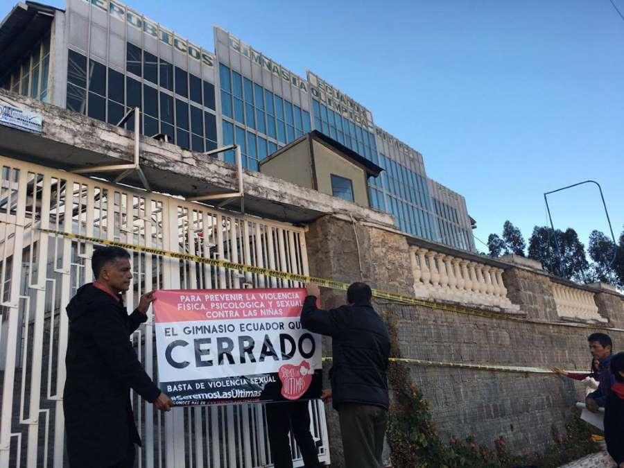 audiencia de contestación del caso gimnasio Ecuador