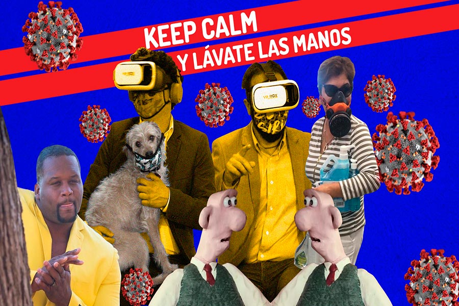 Keep calm y lávate las manos