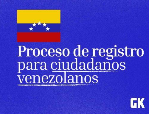 El proceso de registro para ciudadanos venezolanos