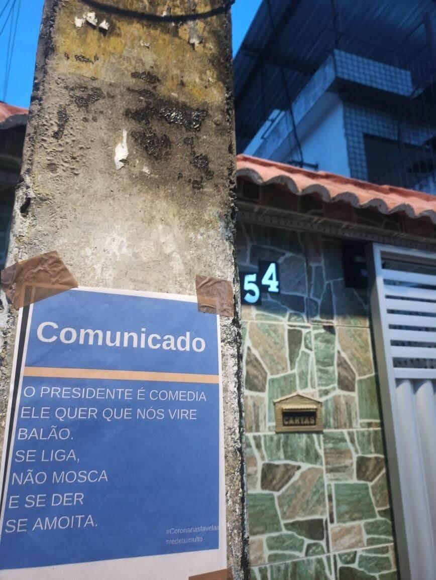comunicadores populares informan sobre el coronavirus en Brasil