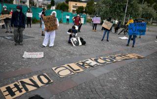 fotos muestran la protesta contra recorte