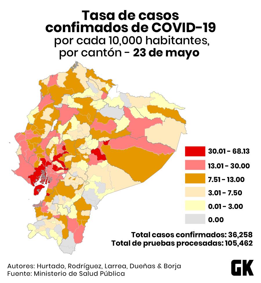 Mapa de contagios