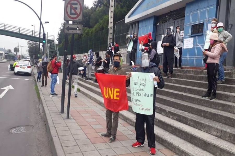 protestas de profesores públicos