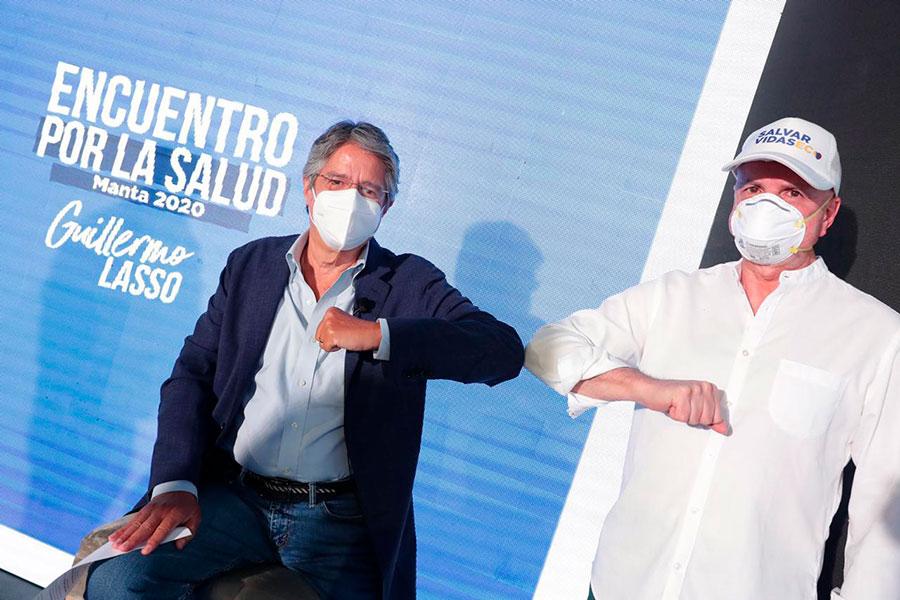 Guillermo Lasso anunció su binomio