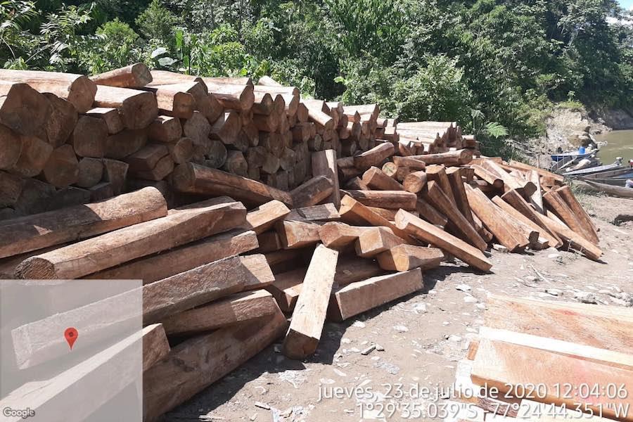 deforestación de balsa