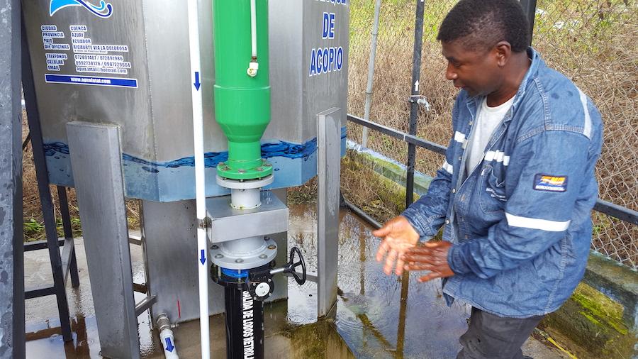 cloración de agua en Imbabura