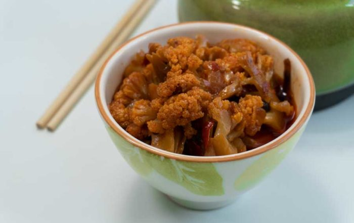 receta coliflor sichuan