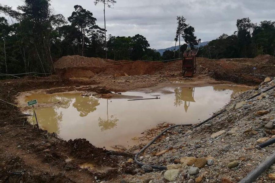 actividades mineras en Napo
