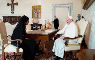visita de la vicepresidenta Muñoz al Papa