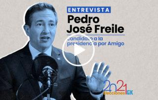 Entrevista a Pedro José Freile, candidato presidencial por AMIGO. Ilustración de Gabriela Valarezo para GK.